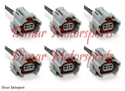 6-Denso Female Fuel Injector Connector Electrical Plug Clip Pigtail