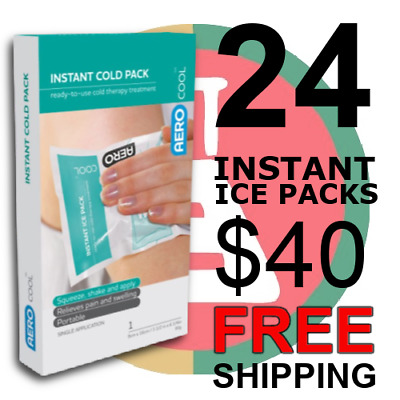24 INSTANT ICE PACKS 80g Squeeze & Shake FIRST AID