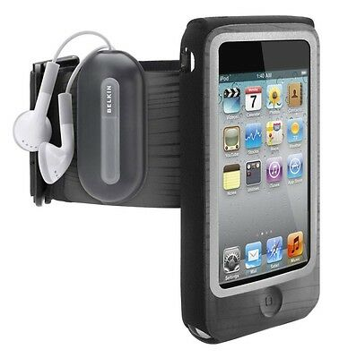 Belkin iPod Touch 4th Generation FastFit Sports Armband Case/Cover Black F8Z675