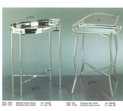 Silver Collapsible Stand & Tray