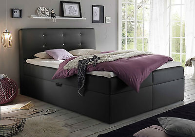 120x200 boxspringbett bett komfortbett hotelbett schlafzimmer bett weiss kasten eur 549 00. Black Bedroom Furniture Sets. Home Design Ideas