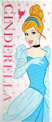 Girls Disney Princess Cinderella Blue Pink Hearts Beach Bath Towel 100% Official