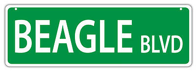 Plastic Street Signs: BEAGLE BLVD | Dogs, Gifts, Decorations