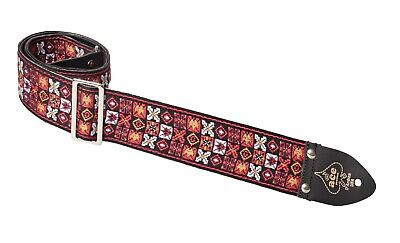 Ace Guitar Strap  Vintage Style  Saugerties Design  Hendrix  Xs and Os