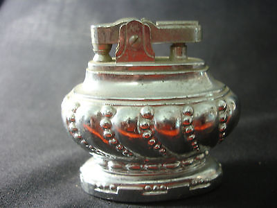Old Vtg Antique Collectible Silver Tone Table Lighter