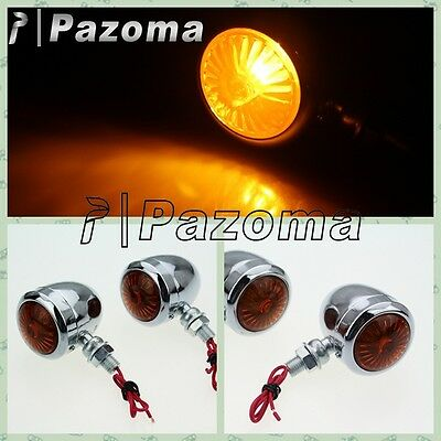 4 Pcs Turning  Lights Motorcycle Turn Signals Lamp For HARLEY Chrome light
