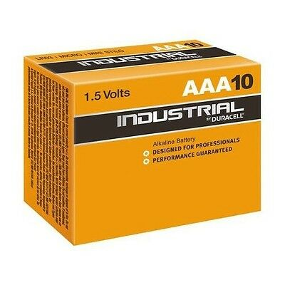 10 x DURACELL INDUSTRIAL PROFESSIONAL 1.5V AAA ALKALINE BATTERIES EXPIRY 2021
