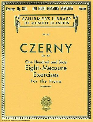 Carl Czerny: 160 Eight-Measure Exercises For Piano Op.821 Klavier Notenbuch