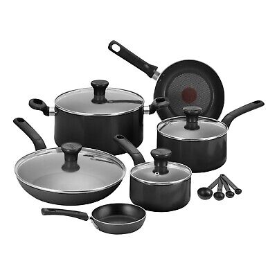 Tefal 7pc Excite Enamel Non-Stick Saucepan Cookware Frying Pan Set -In 3 Colours