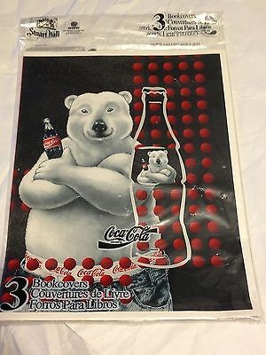 COCA-COLA Coke Polar Bear School Bookcover Set 1995 NEW IN PACKAGE RARE