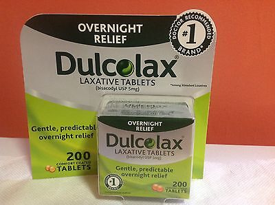 200 Dulcolax Laxative Tablets 5mg Bisacodyl USP Tablets For Constipation Relief