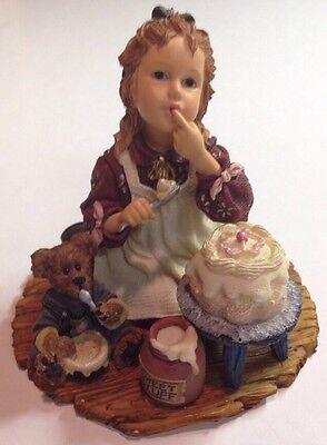 "Boyds Dollstone # 3560 ""Sarah Anne w/ Duncan..Icing On The Cake"""