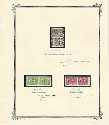 Nepal, Postage Stamp, #44, 39, 46 Imperf Pairs Mint, 1935-1941