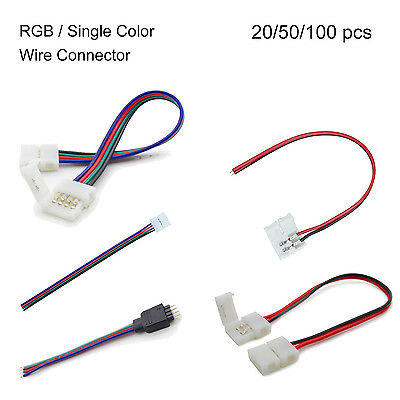 ATOM LED RGB LED Strip Accessories 5050 2Pin Wire Adapter Clip Connector 10mm