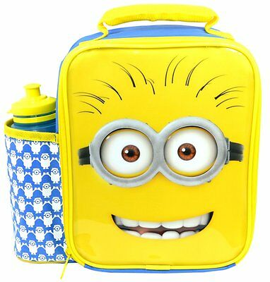Despicable Me Minions Deluxe Lunch Bag/Box and Bottle Set | Minions Lunchbox