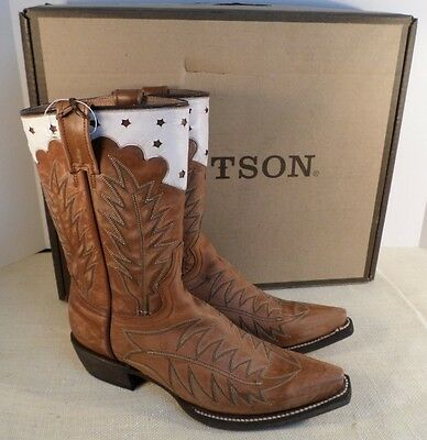 b2657b3d99e NEW IN BOX Stetson Ladies Jade Fashion Snip Toe Cowgirl Boots Black ...