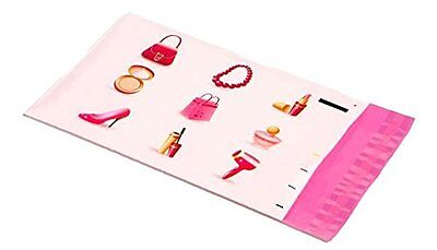 25 6x9 Pink Make Up Designer Mailers Poly Shipping Envelopes Boutique Bags