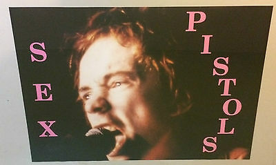 Johnny Rotten Sex Pistols Poster Sid Vicious Pin-Up Picture Photograph Vintage