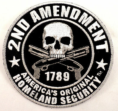 2Nd Amendment Original Homeland Security Biker Helmet Motorcycle Uniform Patch