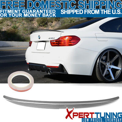 Fit For 14-16 BMW F32 P Style CF Carbon Fiber Rear Trunk Spoiler