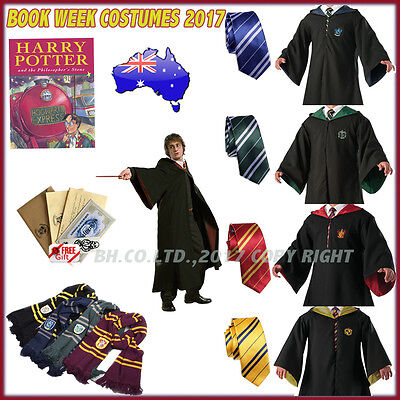 Harry Potter Adult Gryffindor/Slytherin/Hufflepuff/Ravenclaw Cosplay Robe Or Tie