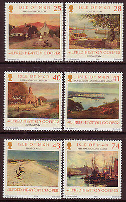 Isle Of Man 2004 A.h.cooper Watercolours Set Of 6 Unmounted Mint