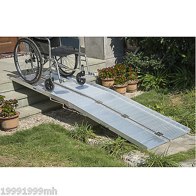 10ft Alu. Wheelchair Ramp Loading Ramp Scooter Mobility Handicap Ramp Portable