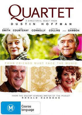 Quartet (2012) * NEW DVD * Maggie Smith Billy Connolly Michael Gambon