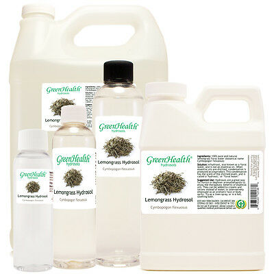 Lemongrass Floral Water (Hydrosol) 2oz-1gallon Free Shipping