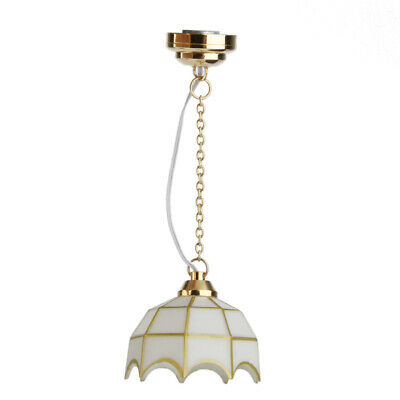 Fashion Ceiling Lamp LED Light Battery Operated for 1:12 Dollhouse Miniature