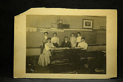 Very Early Vintage Large Photograph Late 1800's to early 1900's Woman Teacher's