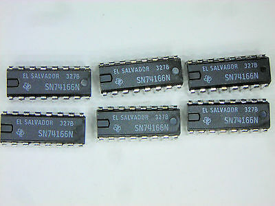 "SN74166N  ""Original"" Texas Instruments  16P DIP TTL IC  5  pcs"