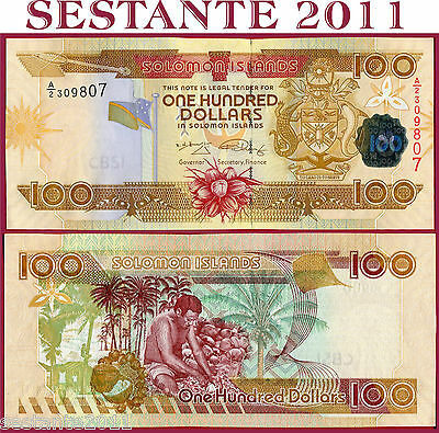 SOLOMON ISLANDS  ISOLE SALOMONE - 100 DOLLARS 2006 (2009)  - P 30 new  - FDS/UNC