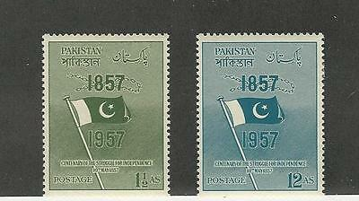 Pakistan, Postage Stamp, #90-91 Mint LH, 1957