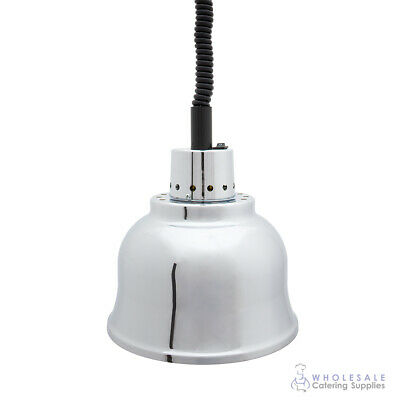 Heat Lamp - Clyde Chrome Finish 225mm Diameter Warmer Warming Commercial