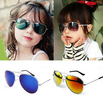 Vintage Children Driving Sunglasses Child Kids Boy's & Girl's UV400 Mirror Lens