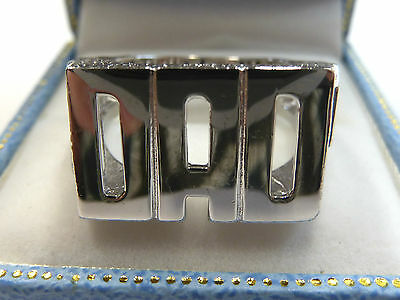 NEW Solid Sterling Silver.925 Heavy DAD Ring  11 grams