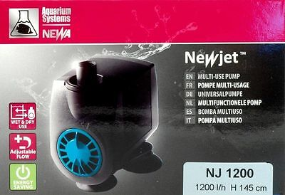 Pompa New-Jet NJ 1200 Per acquari fino a litri 400 NEWA immersione filtro Nj1200