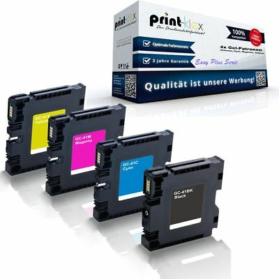 4x Kompatible Gel-Patronen für Ricoh GC-41 KC-41K GC-41C GC-41 - Easy Plus Serie