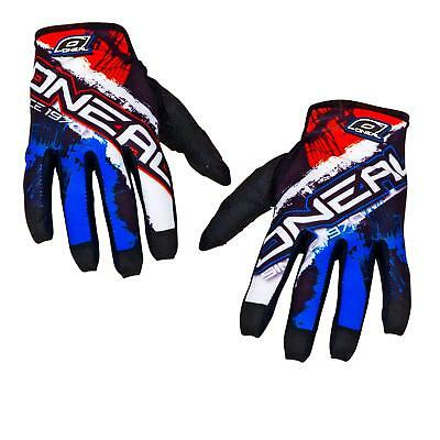 ONeal Jump Mayhem Shocker Blau Rot Handschuhe MX DH MTB Moto Cross Mountainbike