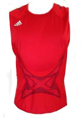 "Adidas Boxing M TF TANK VEST TOP O94651 red/white 32/34"" to 56-58""Older boys/Men"