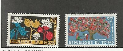 Chad, Postage Stamp, #101-102 Mint NH, 1964