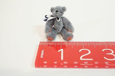 "Teddy Bear Miniature Grey With Movable Legs (Articulated) Only 2.25"" Tall"