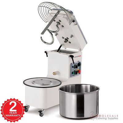 Spiral Mixer 20 Litre Tilting Head Removable Bowl Single Phase Mecnosud NEW