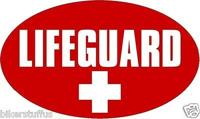 Lifeguard Bumper Sticker Laptop Sticker Toolbox Sticker Window Sticker