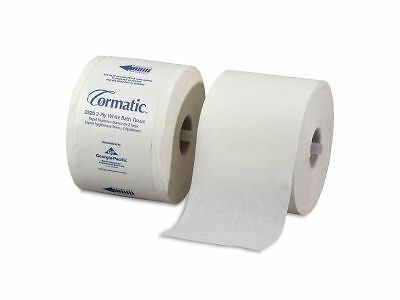 Cormatic 2520 Embossed Bath Tissue, Two-Ply, White, 1000 Sheets/Roll, 36 Rolls/C