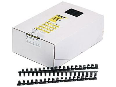"52327 Fellowes Plastic Comb Bindings, 5/8"" Diameter, 120 Sheet Capacity, Black,"