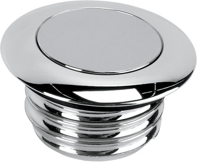 Drag Specialties chrome pop-up non-vented gas cap 96-16 Harley Softail FXST