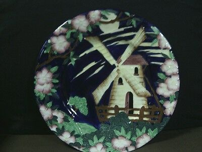 "Antigue Maling Newcastle on Tyne Hand Painted Lustre ware""Windmill""Plate,England"