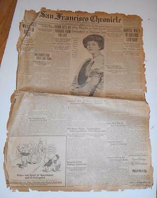 1914 Vintage San Francisco Chronicle - 4 pages AWESOME (SFC201514) ***SPECIAL***